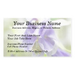 Blue And White Frilly Columbine Pack Of Standard Business Cards