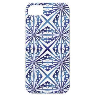 Blue and White Geometric Pattern iPhone 5 Cover