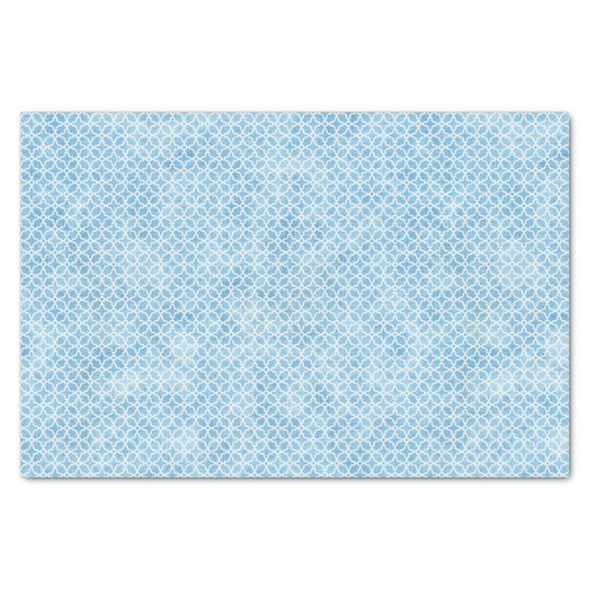Blue and White Geometric Tissue Paper