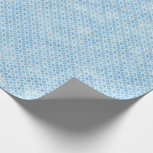 Blue and White Geometric Wrapping Paper