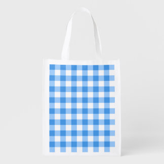 Blue And White Gingham Check Pattern