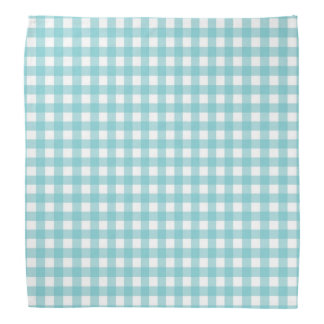 Blue and White Gingham Design Head Kerchiefs