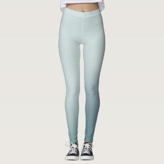 Blue and White Gradient Leggings