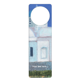 Blue And White Greek Cypriot Church Door Hanger