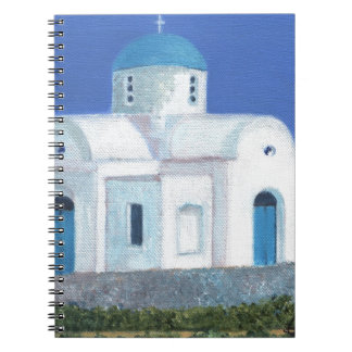 Blue And White Greek Cypriot Church Spiral Notebook