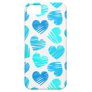 Blue and white hearts iPhone 5 Case