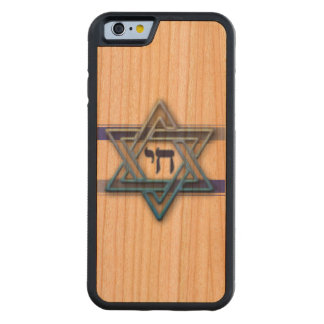 Blue and White Hebrew Chai Star of David Cherry iPhone 6 Bumper