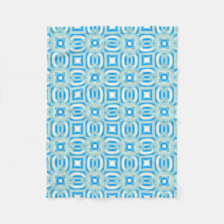 Blue and White Kaleidoscope Pattern Blanket