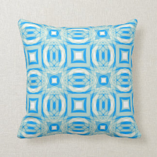 Blue and White Kaleidoscope Pattern Pillow