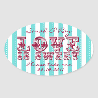 Blue and white love is sweet sticker