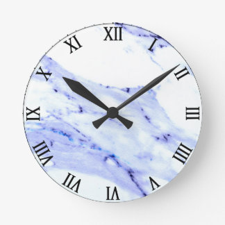 Blue and White Marble Wallclocks
