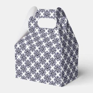 Blue And White Modern Geometric Pattern Favour Box
