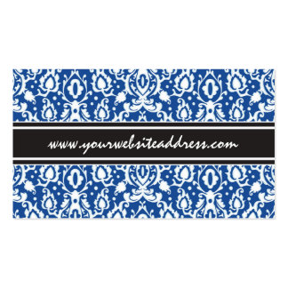 Blue and White Moroccan Damask Pack Of Standard Business Cards