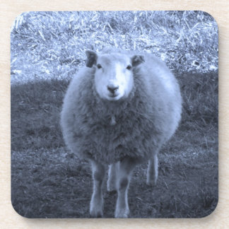 Blue and White Mother sheep Coaster