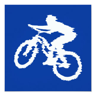 Blue and White Mountain Bike Card