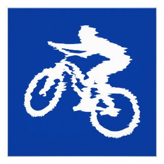 Blue and White Mountain Bike Announcements