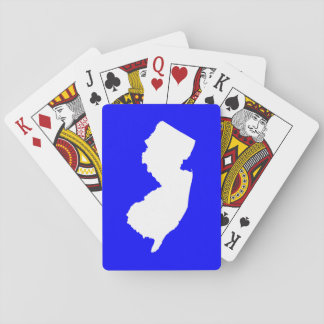 Blue and White New Jersey Poker Deck