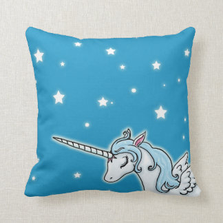 Blue and white Pegasus Unicorn Cushion