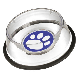 Blue and White Pet Paw Print