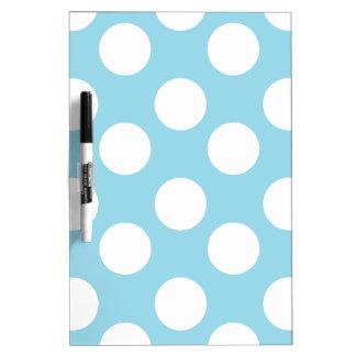 Blue and White Polka Dot Dry Erase Board