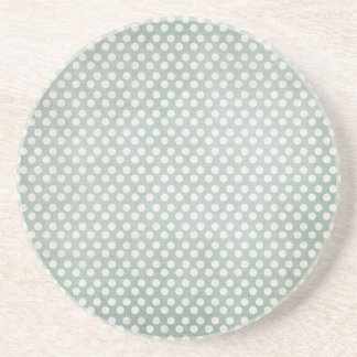 Blue and White Polka Dots Faded Beverage Coaster