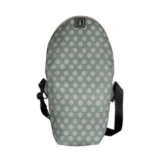 Blue and White Polka Dots Faded Courier Bag