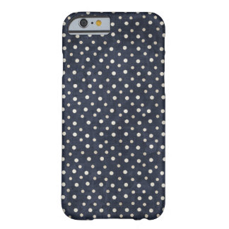 Blue and white polka dots iPhone case