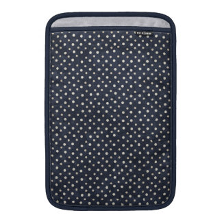 Blue and white polka dots MacBook Air Sleeve