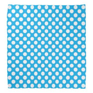 Blue and white polka dots pattern bandana