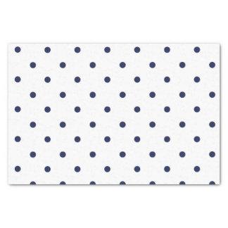 Blue and White Polka Dots Tissue Paper