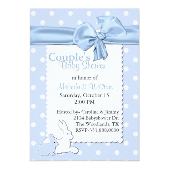 Blue and White Polka Dots With Rabbits Baby