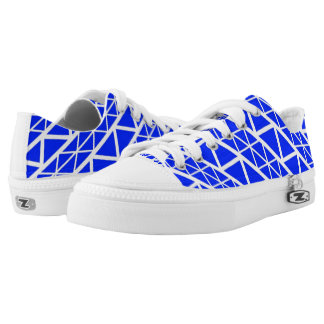 Blue and White Printed Shoes