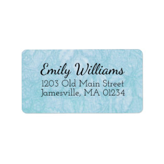Blue and White Return Address Labels w Black Text