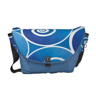Blue and White Rickshaw Medium Zero Messenger Bag