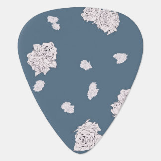 Blue and White Roses Plectrum