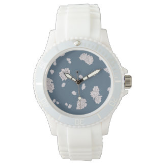 Blue and White Roses Watch