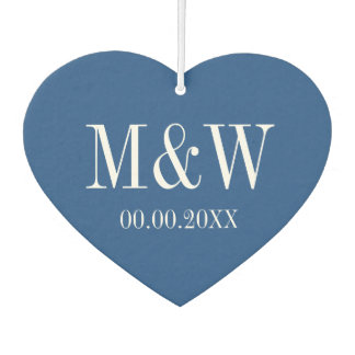 Blue and white Save the date wedding air freshener