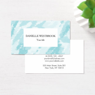 Blue and White Sky Pattern Business Card