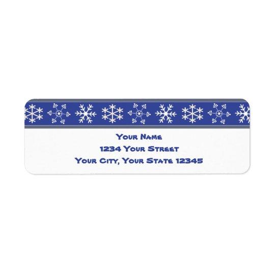 Blue and White Snowflake Address Label #HolidayZ
