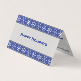 Blue and White Snowflake Folded Card #HolidayZ