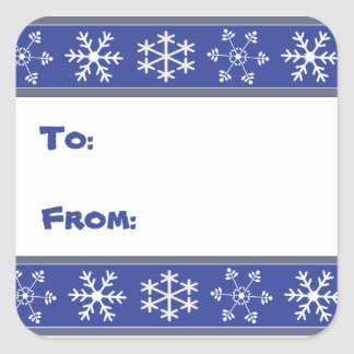 Blue and White Snowflake Gift Stickers #HolidayZ