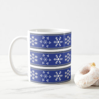 Blue and White Snowflake Mug #HolidayZ