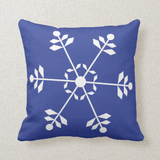 Blue and White Snowflake Pillow #HolidayZ