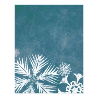 Blue and White Snowflakes Christmas 21.5 Cm X 28 Cm Flyer