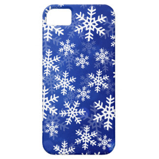 Blue and White Snowflakes iPhone 5 Case