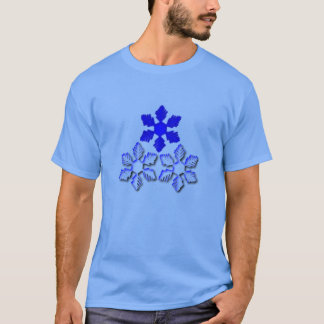 Blue and White Snowflakes T-Shirt