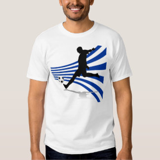 Blue and White Soccer Player Tshirt