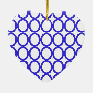 Blue and White Splash of O's Christmas Ornament