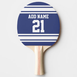 Blue and White Sports Jersey Custom Name Number