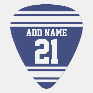 Blue and White Sports Jersey Custom Name Number Pick